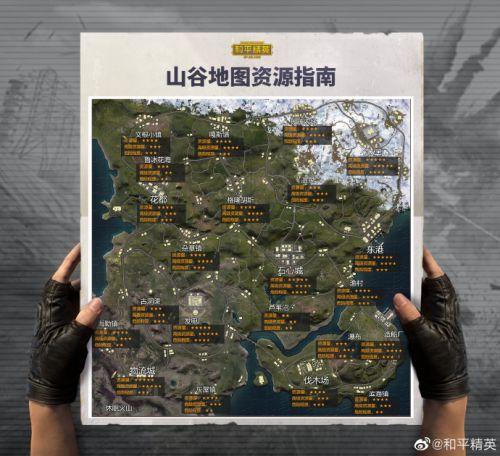 和平精英山谷地图物资分布汇总