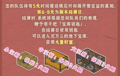 江南百景图桃花村副本结算分析