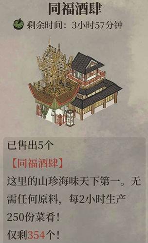 江南百景图同福酒肆获取方法 作用介绍